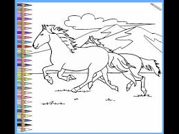 Wild Horse Coloring Pages For Kids Wild Horse Coloring Pages Youtube