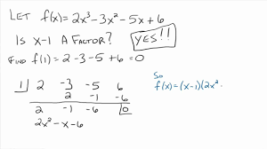 How To Factor A Cubic Factorising Cubic Polynomials Lessons Tes Teach
