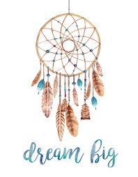 Boho Dream Catcher Png A motivational bohemian art print that says Dream Big with a 2