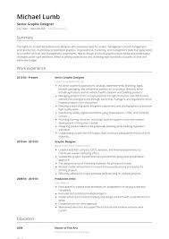 Senior Graphic Designer Resume Sample Graphic Design Resume Samples Templates Visualcv