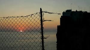 broken chain link fence png. Broken Chain Link Fence Png Dawn Sun Sea Timelapse At A Small Fencing Town On Cliff E