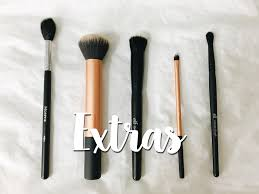 morphe eyeshadow brushes. l to r: morphe m501, rt buffing brush, elf small stipple eyeshadow brushes
