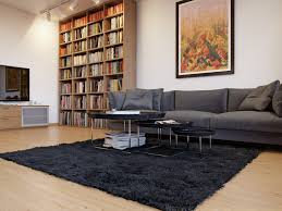 Living Room Bookshelf Living Room Furniture Cool Gray Sofa With Fashionable Wooden