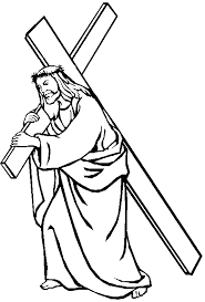 Jesus Carrying His Cross Coloring Page