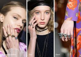fall winter 2017 2018 jewelry trends multiple rings