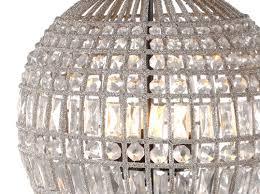 beaded glass ball chandelier large