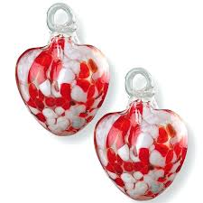 glass heart ornament mercury glass heart ornaments
