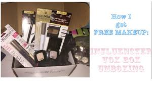 how to get free makeup without having a you channel vox box unboxing