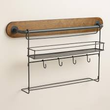 Small Picture Modular Kitchen Wall Storage Spice Rack with Cup Hooks World Market
