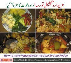 here is how to make a delicious korma recipe with only vegetables see the step