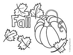 fall coloring pages for kids printable
