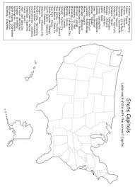 Us map with states and capitals worksheets