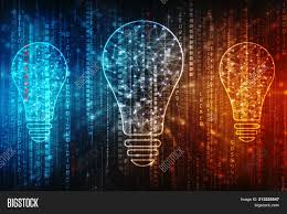 Powerpoint Template Bulb Future Technology Innovation Background