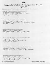 net ionic equation worksheet