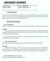Career Objective Cv Resume Template Career Objective