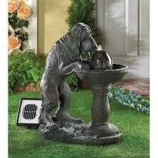fountain garden. THIRSTY DOG SOLAR FOUNTAIN Fountain Garden