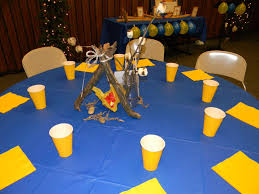 Blue And Gold Banquet Table Decorations