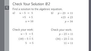 solving algebraic equations part 1 independent practice solutions conquering math