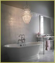 traditional black and white bathroom crystal chandelier in