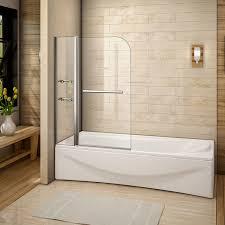 240 pivot over bath screen double shower screen door panel seal 6mm glass