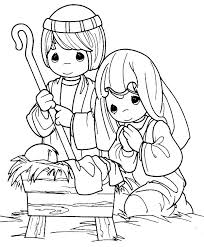 Small Picture Cartoon of Nativity of Baby Jesus Coloring Page Cartoon of