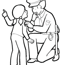 Policeman Colouring Pages Police Pictures Hat Coloring Page