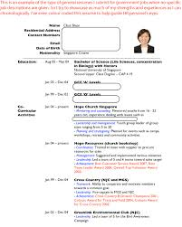 Resume Template Singapore Cv Or Resume In Singapore Example Template