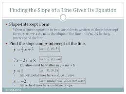 finding the slope of a line given its equation