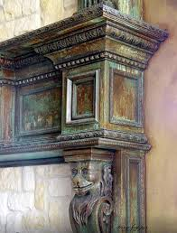 ceiling tray kitchen lott home gorgeous oxidized finish on a fireplace mantel with modern masters metal effects s by andrea blair murrill and