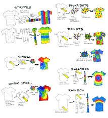 Tie Dye Patterns Instructions