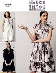 Marcy Tilton Patterns Stunning Vogue 48 V48 Marcy Tilton Dress Pattern Misses Sizes 4848 EBay