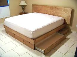 diy twin bed frame with storage building bed frame platform beds with storage drawers great how