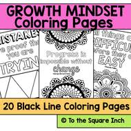 Growth Mindset Coloring Pages By Katembee Teaching Resources