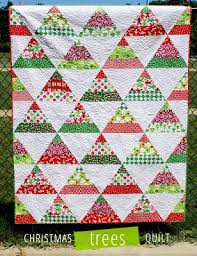 Quilt Inspiration: Free pattern day: Christmas quilts (part 1): Trees! & Figgy Pudding Quilt, 66 x 82