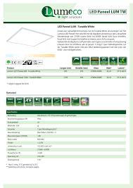 Led Paneel Tunable White Producten Lumeco Bv