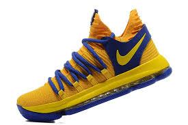 nike basketball shoes 2017 kd. 2017 nike kd 10 yellow blue men\u0027s basketball shoes kd s