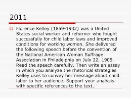 types of r a questions on the test  in the following letter  2011  florence kelley 1859 1932 was a united states social worker and
