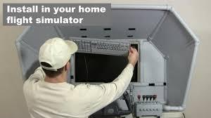 man installing control panel in boeing 737 plane diy airliner keyboard mod