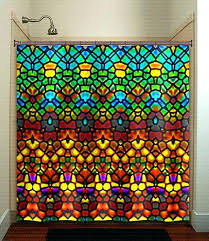 stained glass shower curtain like this item disney stained glass shower curtain