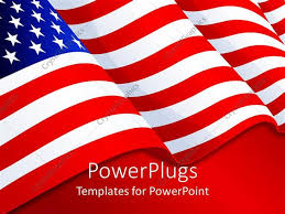 Powerpoint Template American Flag Patriotic Background With