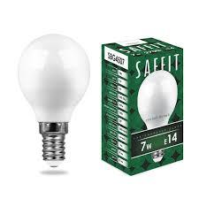 <b>Лампа светодиодная SAFFIT</b> SBG4507 Шарик E14 7W 2700K ...