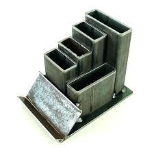 metal file holder desk organizer steel with card by accordion desktop rack ho