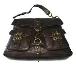 Image is loading Coach-Legacy-BROOKLYN-Dk-Brown-Pocket-Leather-Large-