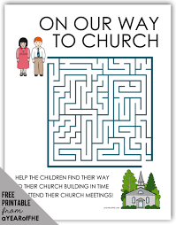 Small Picture A Year of FHE FREE maze activity page about church attendance