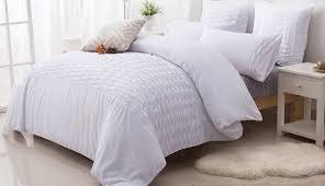 quilt linen bedspread waffle bedding queen white quilted enchanting cotton full shams pillow target set and
