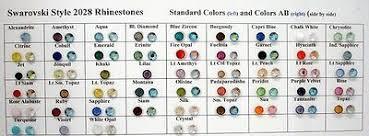 Swarovski Hotfix Crystals Size Chart Swarovski Flatback Crystal Rhinestones Browns Yellows Greens