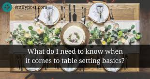 Place Setting Template Adorable Basic Table Setting The Emily Post Institute Inc