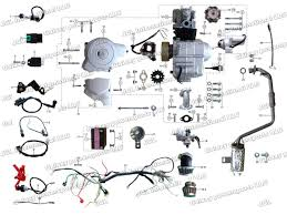 110cc atv wiring diagram wirdig 110cc full size fored air cooled fully automatic 4x2 sports atv quard