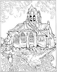 Van Gogh Coloring Page 30 Vincent Pages Best Free Coloring Pages Site