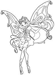Free Winx Club Enchantix Colouring Pages Coloring Pages For Kids